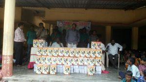 Books distribution to school children's