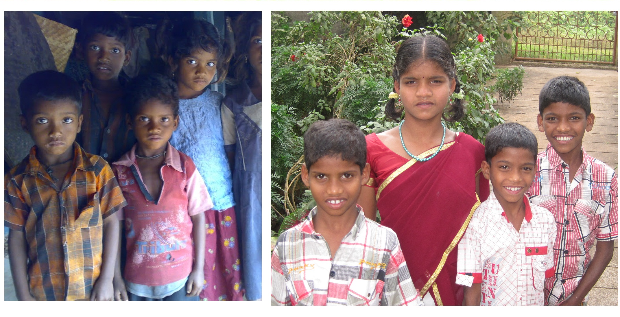 Some Tribal orphan children from remote tribal village near Araku rescued by UFC